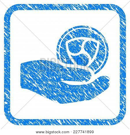 Nem Donation Hand Rubber Seal Stamp Imitation. Icon Vector Symbol With Grunge Design And Unclean Tex