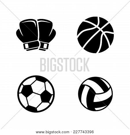 Sports Equipment. Simple Related Vector Icons Set For Video, Mobile Apps, Web Sites, Print Projects