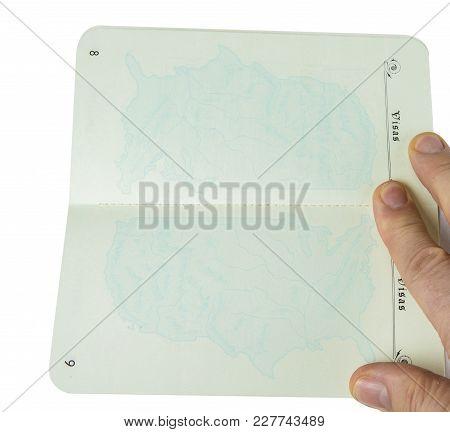 Permit To Reenter The United States. White Passport.