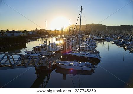 Port De Plaisance, The Leisure Harbour Of Hendaye, Aquitaine, France.