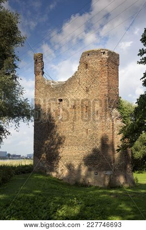 Remains From The Castle Huis Te Merwede Near The Dutch Town Dordrecht