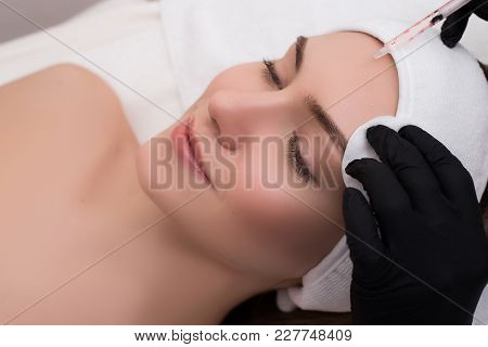See After Your Skin! Attractive Young Girl Getting A Procedure O