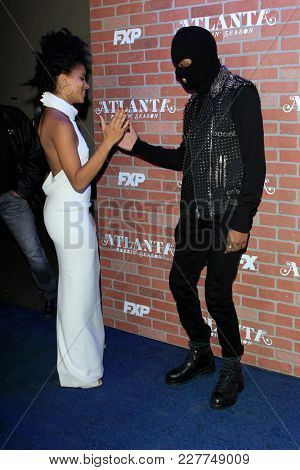 LOS ANGELES - FEB 19:  Zazie Beetz, Lakeith Stanfield at the