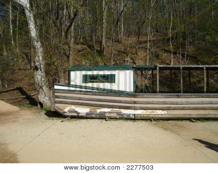 Beached Canal River Boat