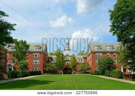 Wayland Hall In Brown University, Providence, Rhode Island, Usa.