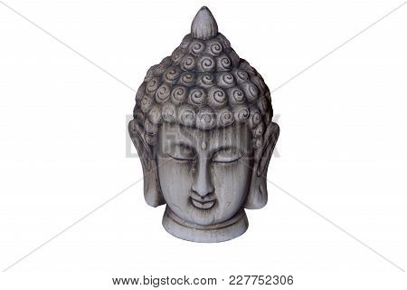 A Buddha Figure With A Background Of A White Color