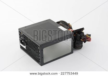 Computer Power Supply Unit, Isolated On White Background