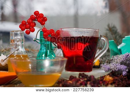 Hibiscus Tea From Rose Carcade Herbal Herbal Tea With Rose Hips And Kalina Diuretic And Cleansing St