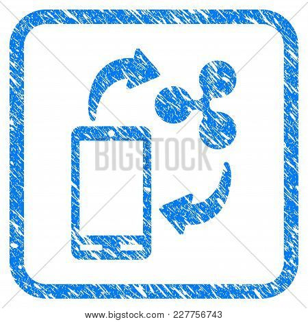 Ripple Mobile Banking Rubber Seal Stamp Watermark. Icon Vector Symbol With Grunge Design And Dirty T