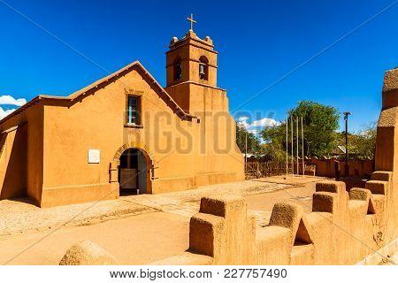 View On Church In San Pedoro De Atacama In Chile