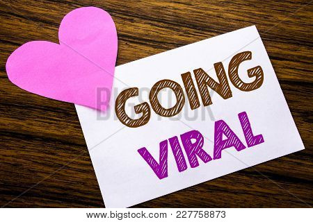 Conceptual Hand Writing Text Showing Going Viral. Concept For Social Viral Business Written On Stick