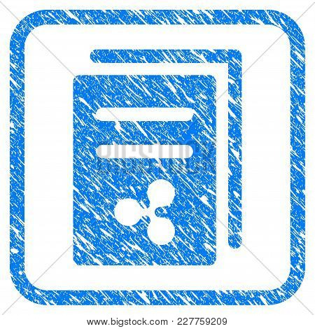 Ripple Price Copy Rubber Seal Stamp Watermark. Icon Vector Symbol With Grunge Design And Corrosion T