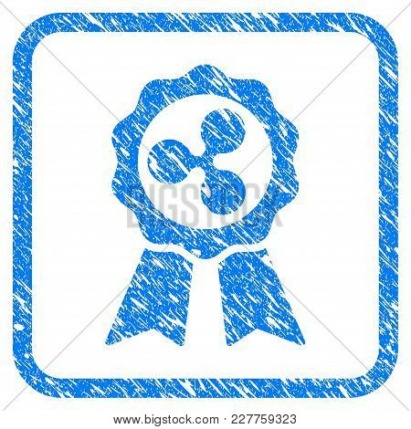 Ripple Premium Ribbons Rubber Seal Stamp Watermark. Icon Vector Symbol With Grunge Design And Corros