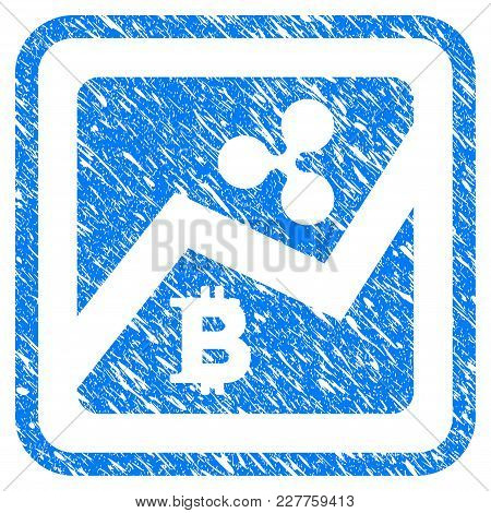 Ripple Bitcoin Exchange Market Rubber Seal Stamp Watermark. Icon Vector Symbol With Grunge Design An