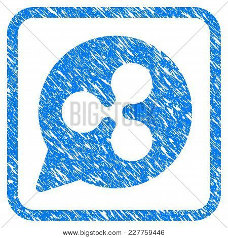 Ripple Cloud Balloon Rubber Seal Stamp Watermark. Icon Vector Symbol With Grunge Design And Unclean