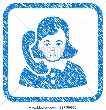 Receptionist Rubber Seal Stamp Watermark. Icon Vector Symbol With Grunge Design And Dirty Texture In