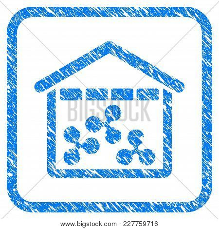 Ripple Depository Rubber Seal Stamp Imitation. Icon Vector Symbol With Grunge Design And Dust Textur