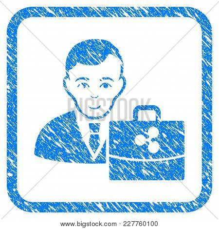 Ripple Accounter Rubber Seal Stamp Watermark. Icon Vector Symbol With Grunge Design And Unclean Text