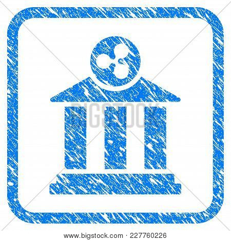 Ripple Bank Rubber Seal Stamp Imitation. Icon Vector Symbol With Grunge Design And Corrosion Texture