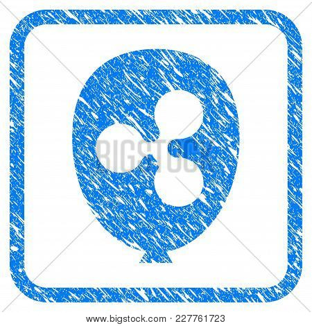 Ripple Balloon Rubber Seal Stamp Watermark. Icon Vector Symbol With Grunge Design And Corrosion Text