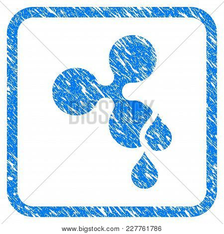 Ripple Blood Drops Rubber Seal Stamp Watermark. Icon Vector Symbol With Grunge Design And Dust Textu