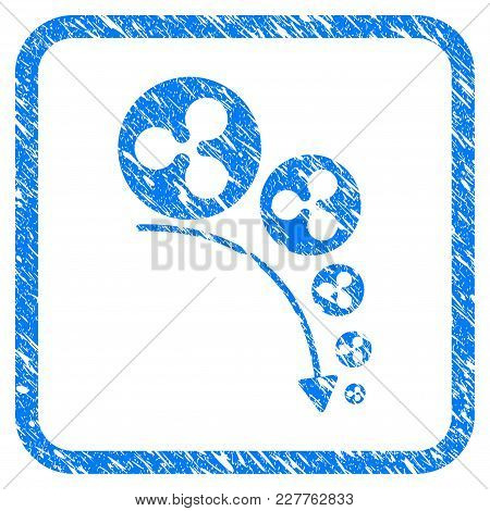 Ripple Deflation Trend Rubber Seal Stamp Watermark. Icon Vector Symbol With Grunge Design And Unclea