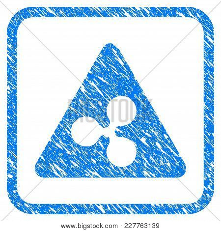 Ripple Danger Rubber Seal Stamp Watermark. Icon Vector Symbol With Grunge Design And Unclean Texture