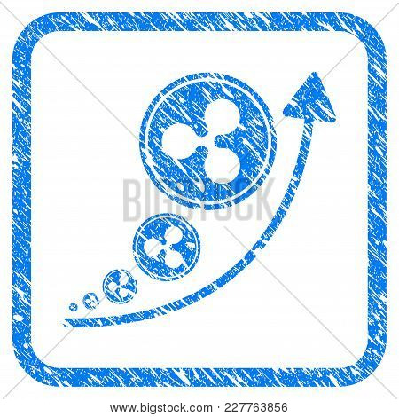 Ripple Inflation Trend Rubber Seal Stamp Imitation. Icon Vector Symbol With Grunge Design And Dirty