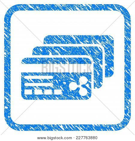 Ripple Banking Cards Rubber Seal Stamp Watermark. Icon Vector Symbol With Grunge Design And Corrosio