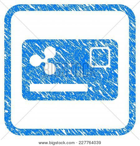 Ripple Credit Card Rubber Seal Stamp Watermark. Icon Vector Symbol With Grunge Design And Unclean Te