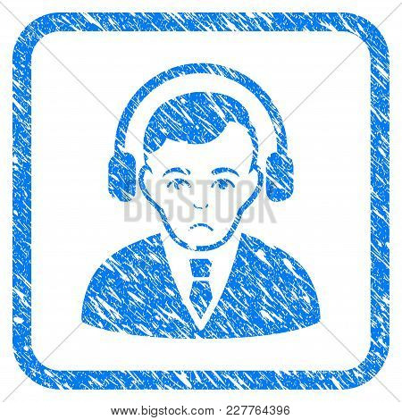 Radio Manager Rubber Seal Stamp Watermark. Icon Vector Symbol With Grunge Design And Unclean Texture