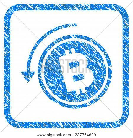 Refund Bitcoin Cash Rubber Seal Stamp Watermark. Icon Vector Symbol With Grunge Design And Corrosion