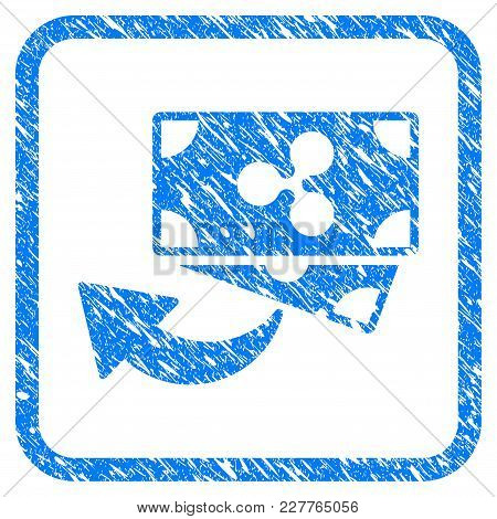 Ripple Cashback Rubber Seal Stamp Watermark. Icon Vector Symbol With Grunge Design And Dirty Texture