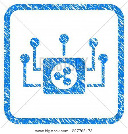 Ripple Masternode Connections Rubber Seal Stamp Imitation. Icon Vector Symbol With Grunge Design And