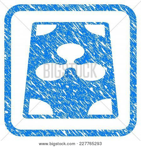 Ripple Banknote Perspective Rubber Seal Stamp Watermark. Icon Vector Symbol With Grunge Design And C