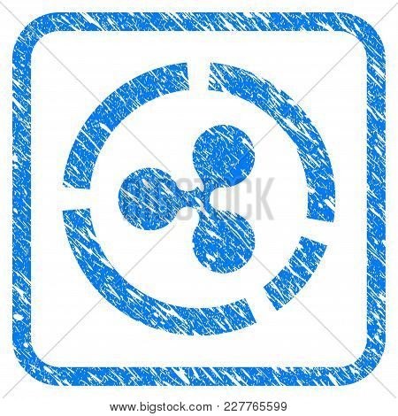 Ripple Diagram Rubber Seal Stamp Imitation. Icon Vector Symbol With Grunge Design And Corrosion Text