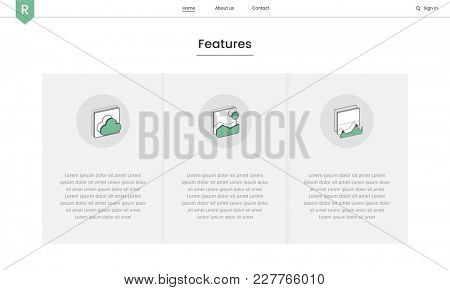 Illustration of website elements for web design