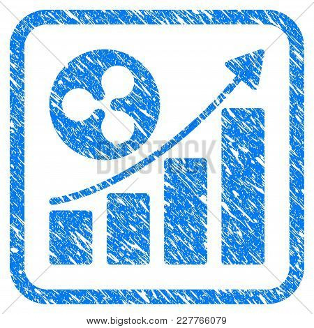 Ripple Growing Trend Rubber Seal Stamp Watermark. Icon Vector Symbol With Grunge Design And Dirty Te