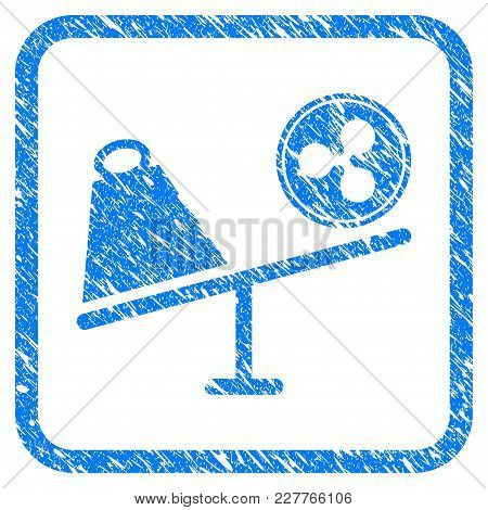Ripple Coin Trade Swing Rubber Seal Stamp Watermark. Icon Vector Symbol With Grunge Design And Corro