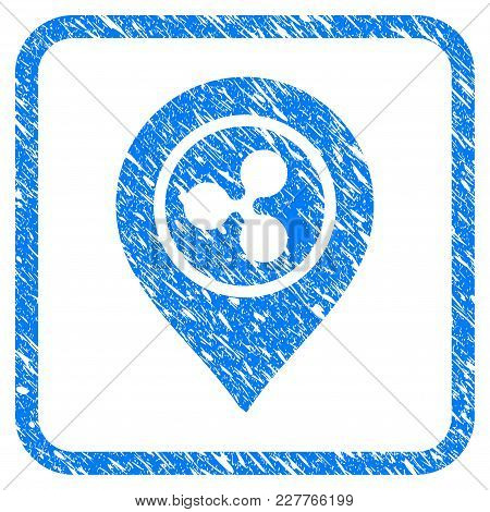 Ripple Map Marker Rubber Seal Stamp Imitation. Icon Vector Symbol With Grunge Design And Corrosion T