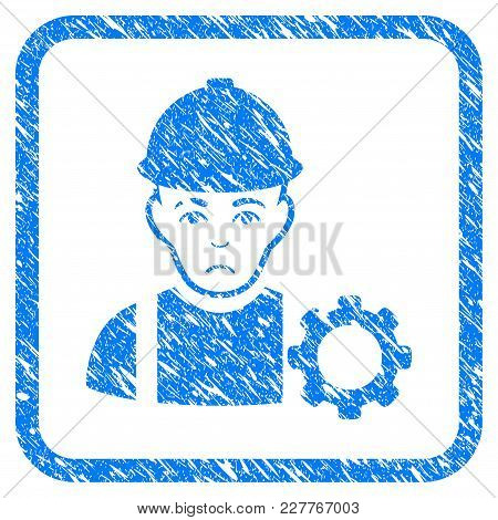 Repairman Rubber Seal Stamp Watermark. Icon Vector Symbol With Grunge Design And Corrosion Texture I