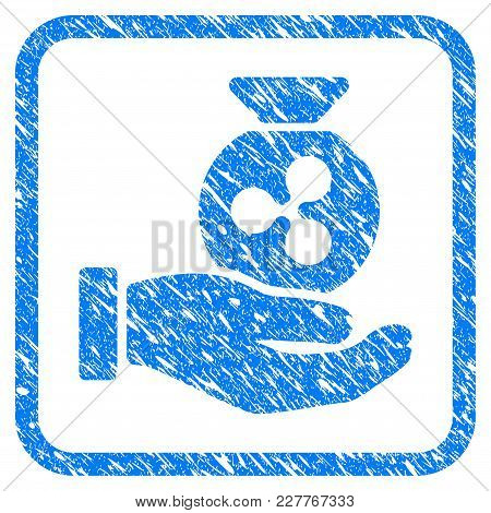 Ripple Invest Hand Rubber Seal Stamp Imitation. Icon Vector Symbol With Grunge Design And Dust Textu