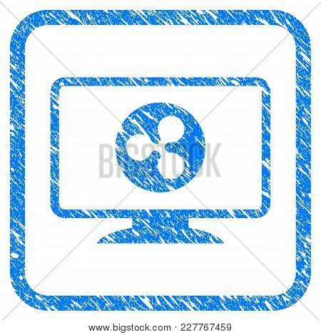 Ripple Display Rubber Seal Stamp Imitation. Icon Vector Symbol With Grunge Design And Dust Texture I