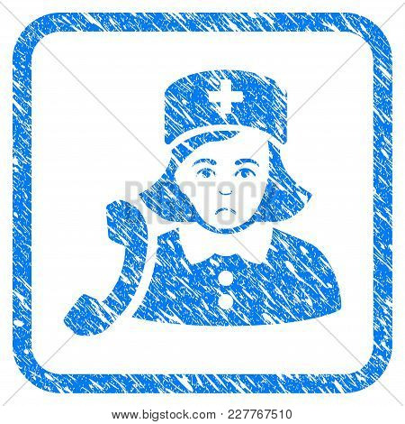 Receptionist Nurse Rubber Seal Stamp Watermark. Icon Vector Symbol With Grunge Design And Corrosion