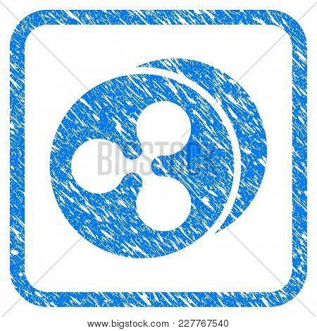 Ripple Coins Rubber Seal Stamp Imitation. Icon Vector Symbol With Grunge Design And Corrosion Textur