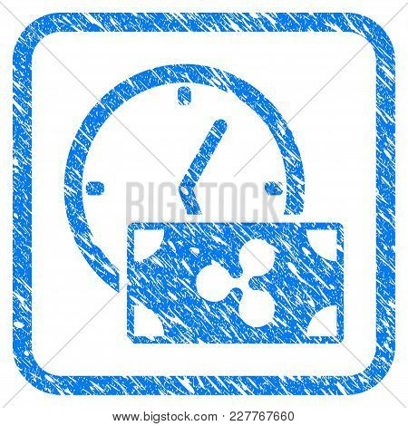Ripple Credit Time Rubber Seal Stamp Imitation. Icon Vector Symbol With Grunge Design And Dust Textu