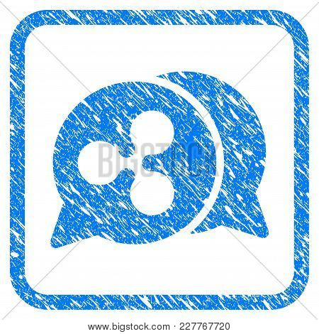 Ripple Chat Rubber Seal Stamp Watermark. Icon Vector Symbol With Grunge Design And Dirty Texture In