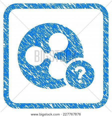 Ripple Coin Unknown Status Rubber Seal Stamp Watermark. Icon Vector Symbol With Grunge Design And Un