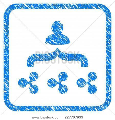 Ripple Collector Rubber Seal Stamp Imitation. Icon Vector Symbol With Grunge Design And Dust Texture