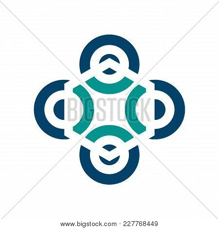 Abstract Logo For Business Company. Corporate Identity Design Element. Technology, Industrial, Logis